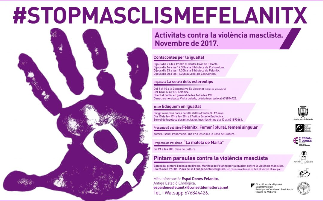 Programa d'activitats #STOPMASCLISMEFELANITX