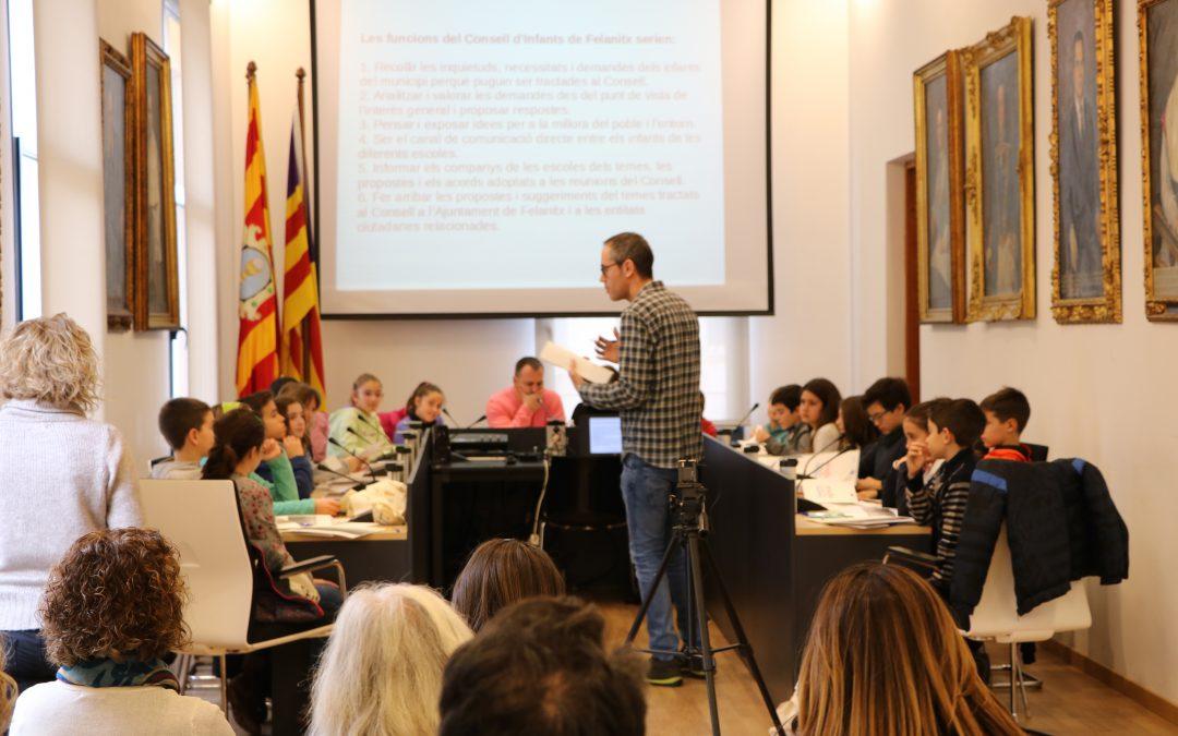 Ahir es va celebrar a la Sala de Plens de l'Ajuntament el primer Consell d'Infants de Felanitx