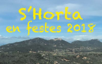 Programa de les festes de s'Horta 2018