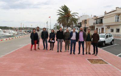 Ports IB visita el final d'obres de primera línia aPortocolomi anuncia noves inversions per 2020