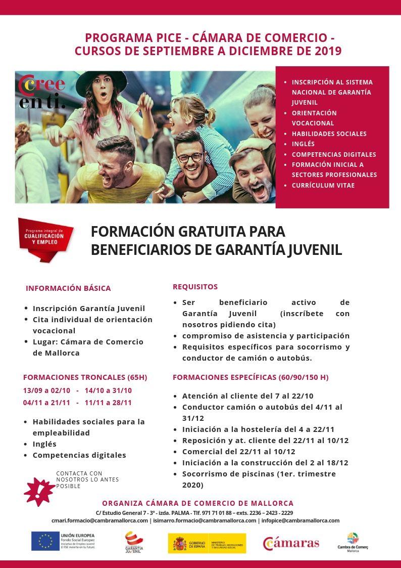 FORMACIONES GRATUITAS ESPECÍFICAS  Y TRONCALES