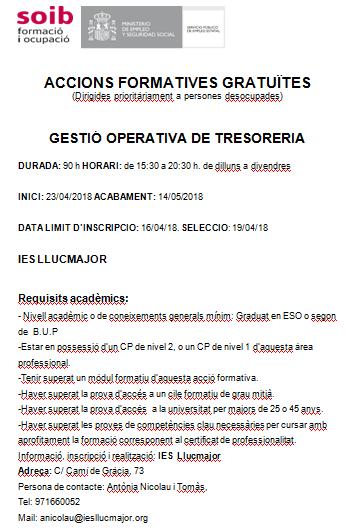 GESTIÓ OPERATIVA DE TRESORERIA