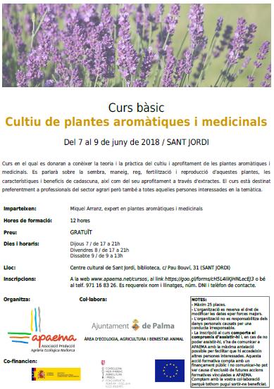 Cultiu de plantes aromàtiques i medicinals