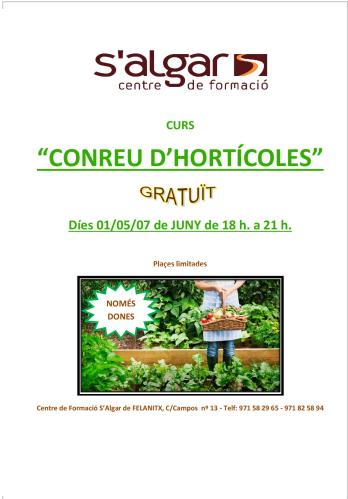 CONREU D'HORTÍCOLES