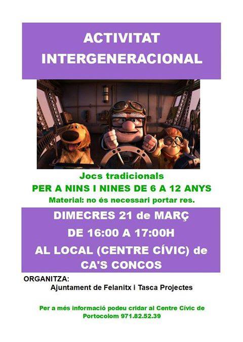 Activitat intergeneracional a Cas Concos