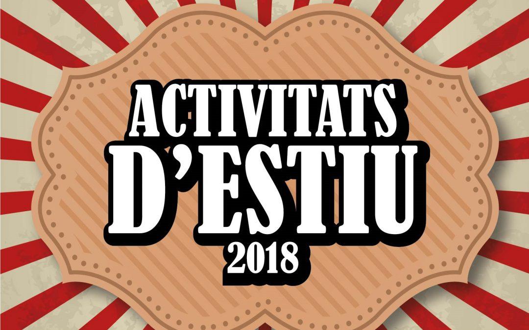 Programació d'activitats d'estiu 2018 (Actualitzat)