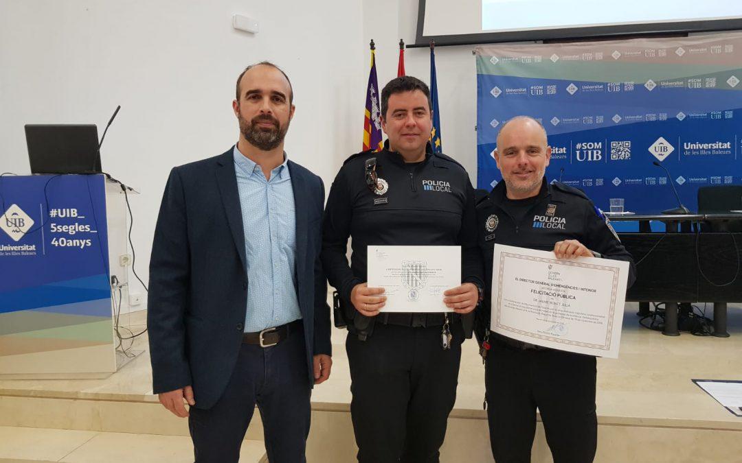 El policia tutor de Felanitx rep el reconeixement per la seva tasca durant els darrers onze anys